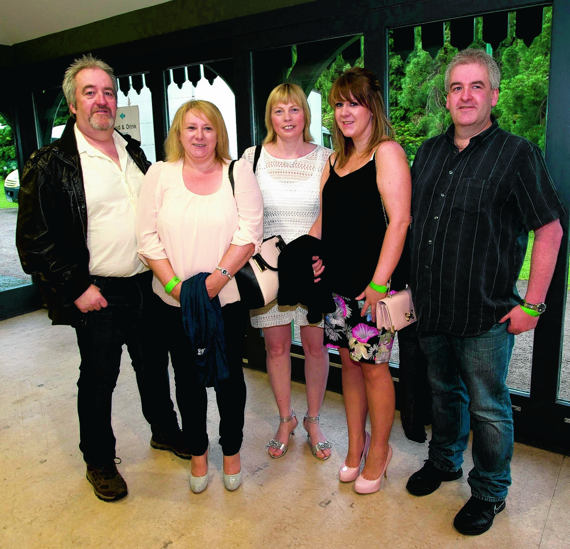 Norman, Christine, Mags, Louise and Gordon Matheson.