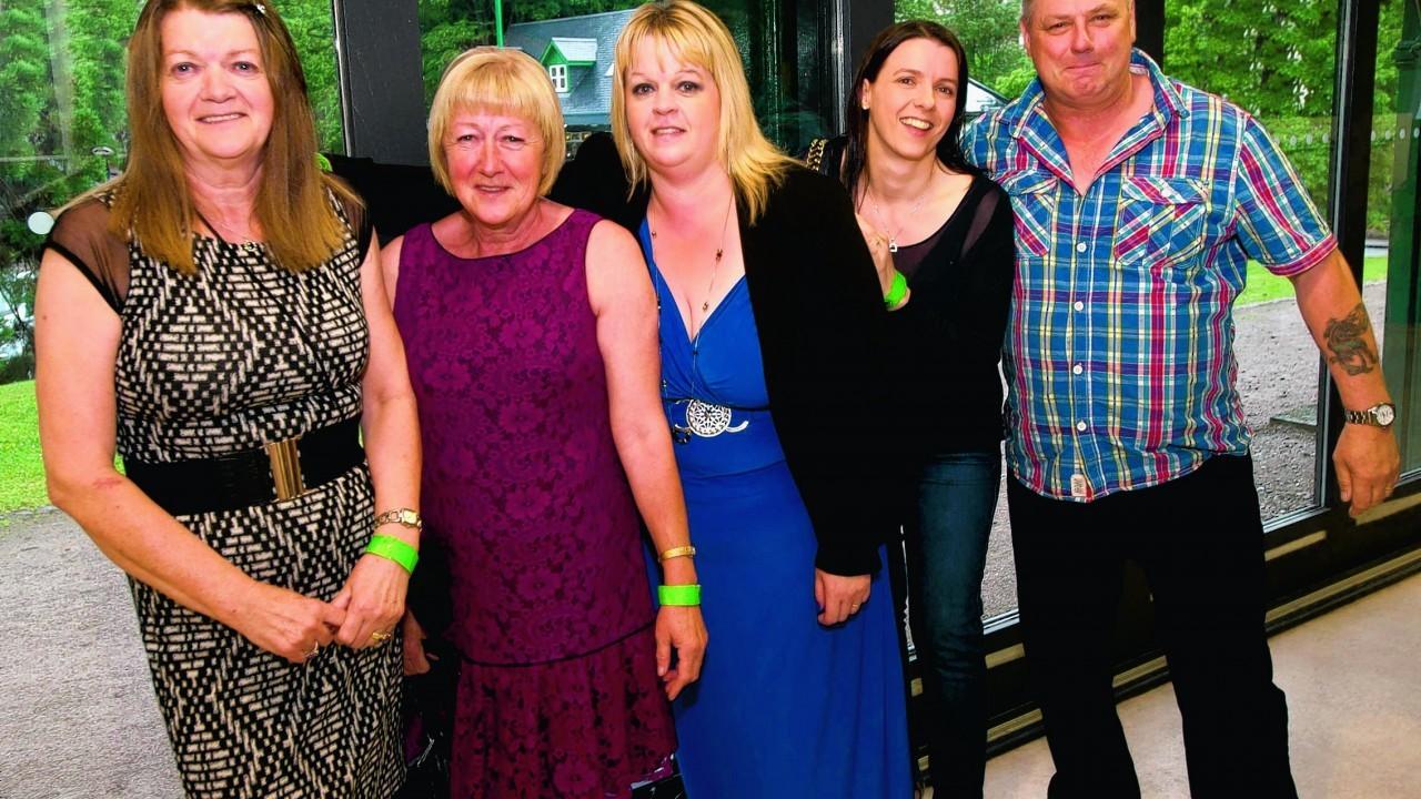 Marion MacKay, Margaret Walker, Alison MacFarlane, Fiona MacKay and David MacFarlane.