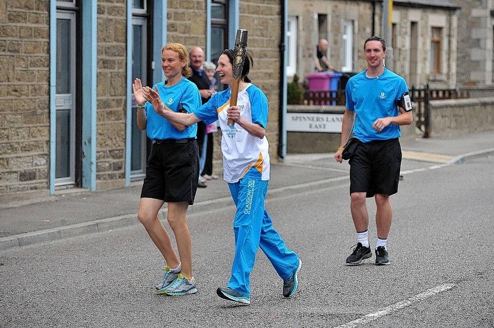 The Commonwealth Games Baton makes its way through Moray