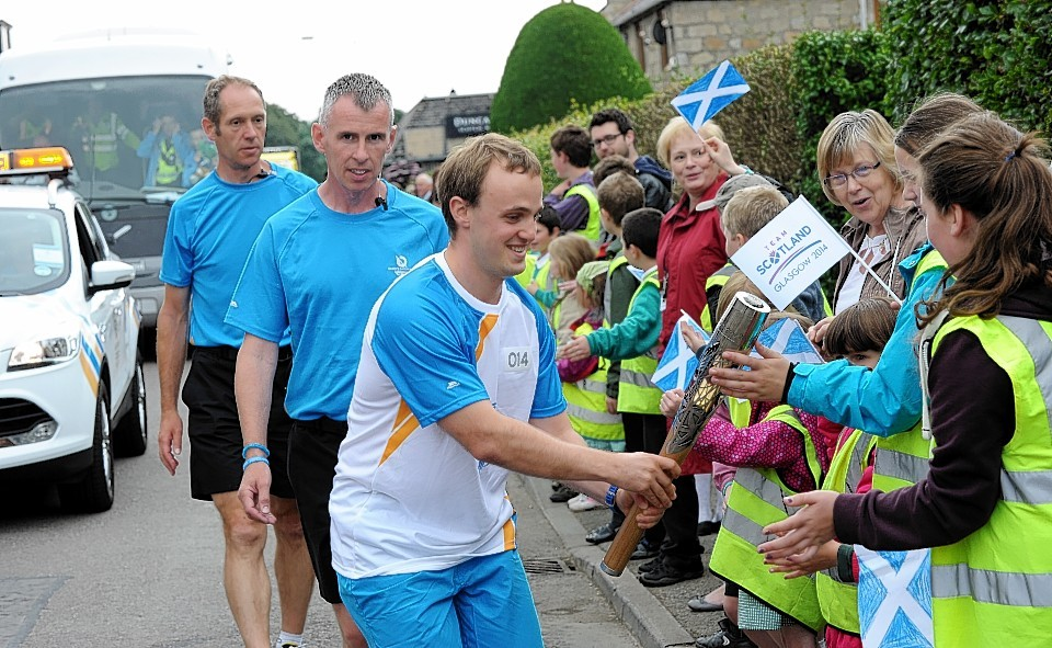 The Baton makes its way through Moray