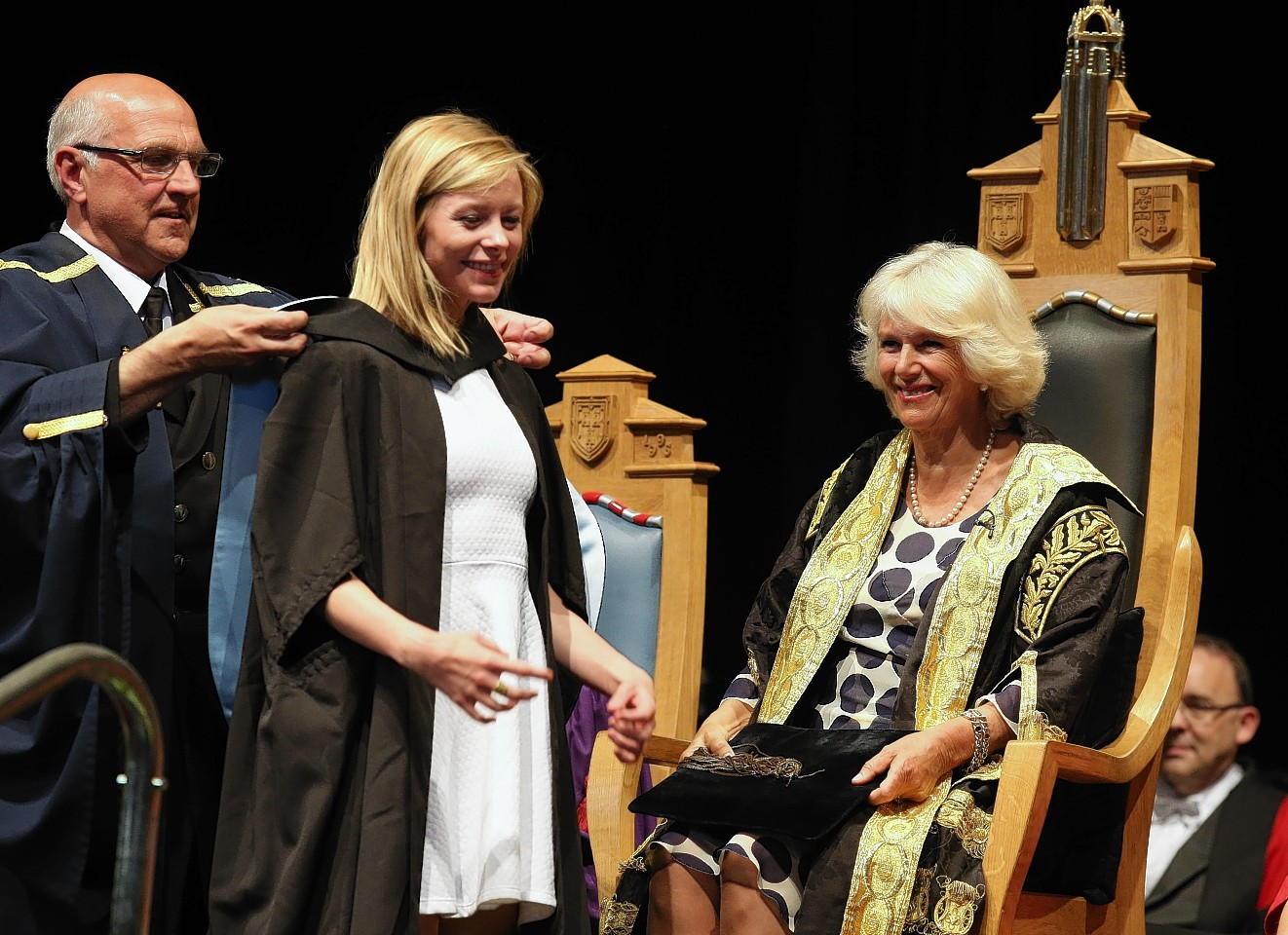 Camilla, The Duchess of Rothesay, at Aberdeen Graduations