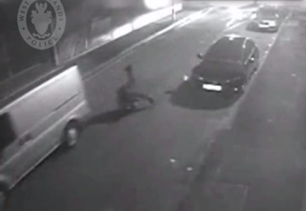 PC Lowe was dragged after holding on to the passenger door while the driver sped on at 30mph