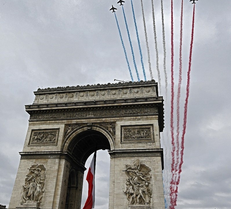 The Bastille Day parade on the Champs-Elysees in Paris, France, Monday, July 14, 2014