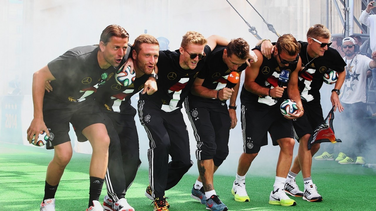 Germany celebrate their World Cup win on home soil
