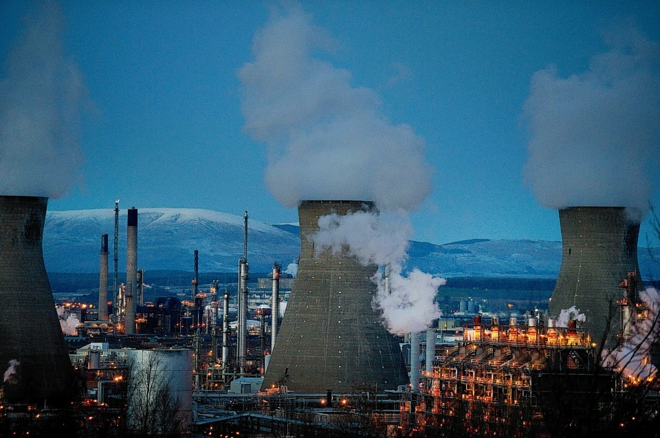 The Grangemouth plant, owned by Swiss firm Ineos