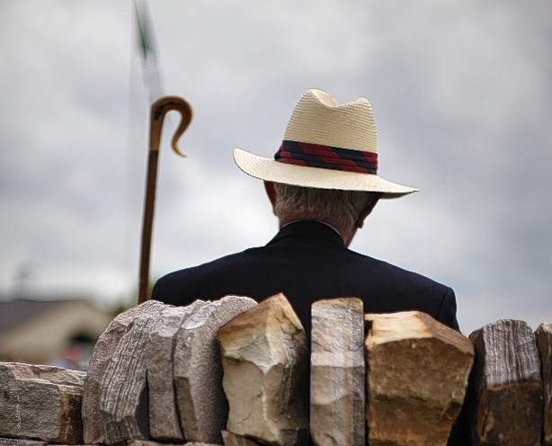 A spectator watches the world go by during the Great Yorkshire Show on July 12, 2011 in Harrogate, England.