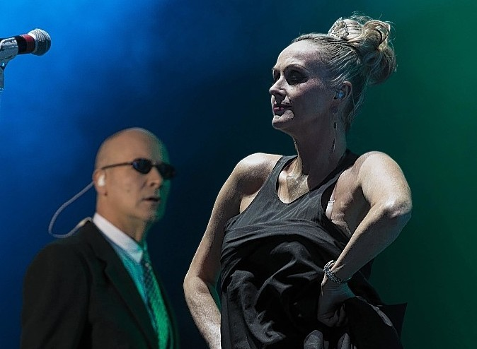 The Human League performing at the 2013 Rewind Festival