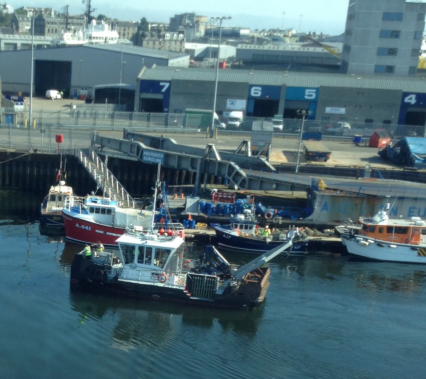 Stuart Wallace's body was recovered from Aberdeen Harbour. Picture submitted by Martin Pedersen