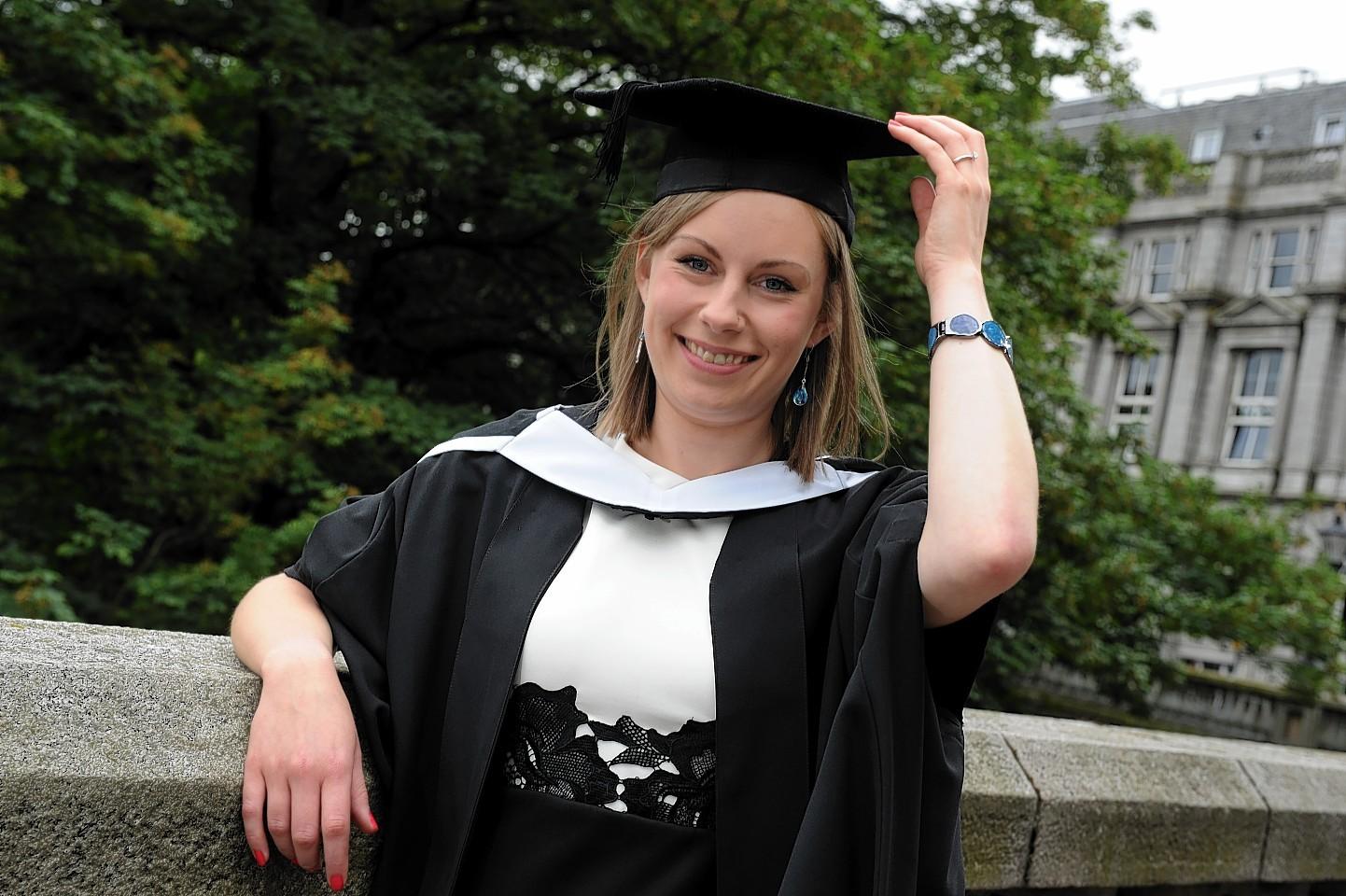 Kathleen at her graduation