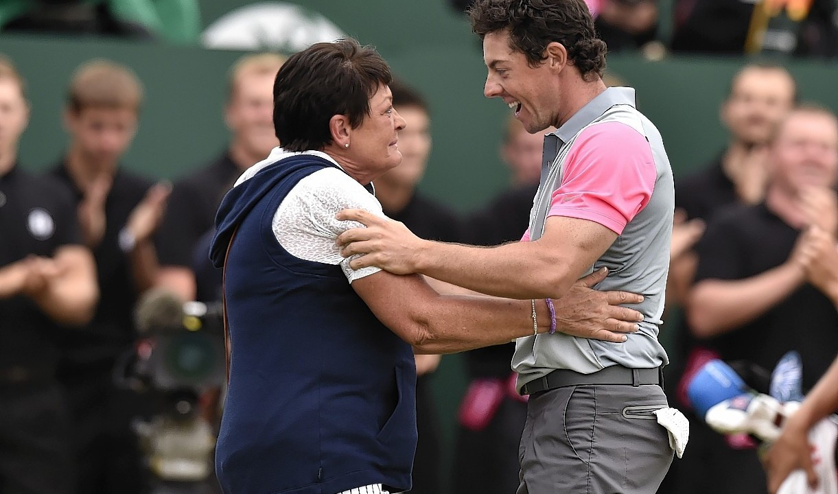 Northern Ireland's Rory McIlroy celebrates winning the 2014 Open Championship at Royal Liverpool Golf Club