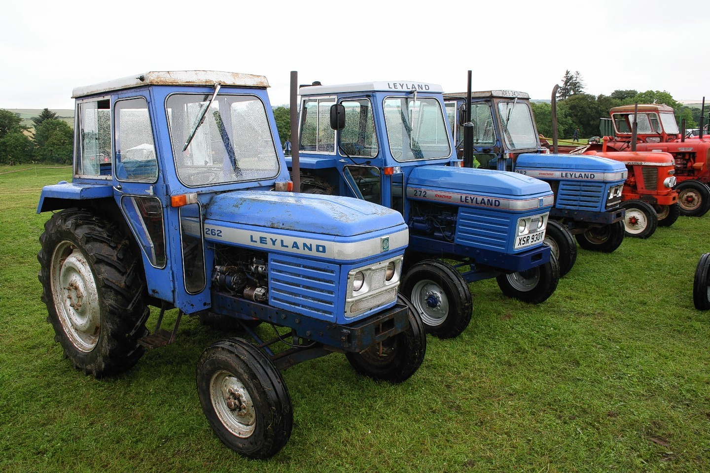 Bathgate built Leyland and Nuffield tractors on display at the New Deer Show