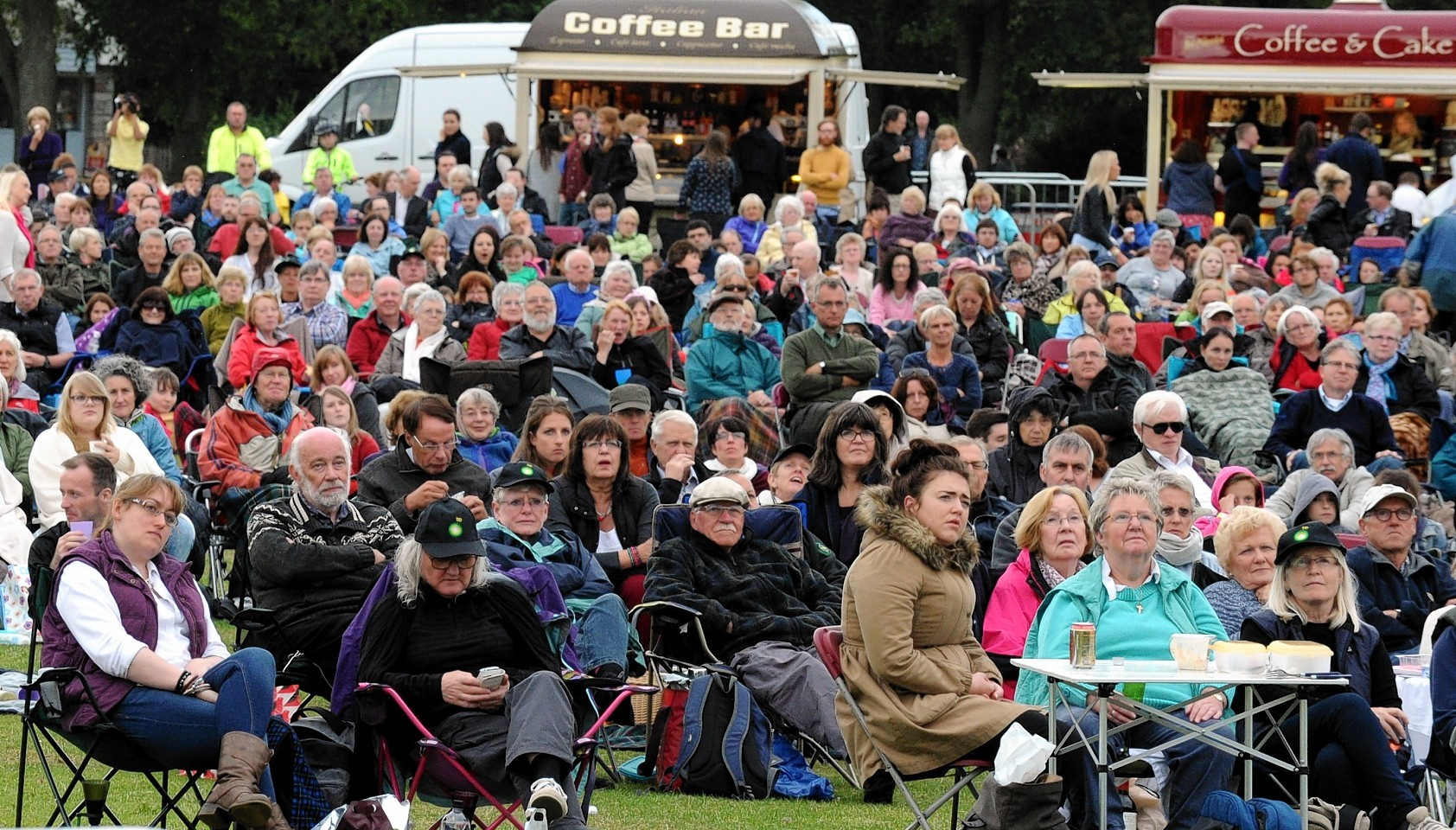 The crowd enjoys the BP sponsored Opera at Duthie Park in Aberdeen
