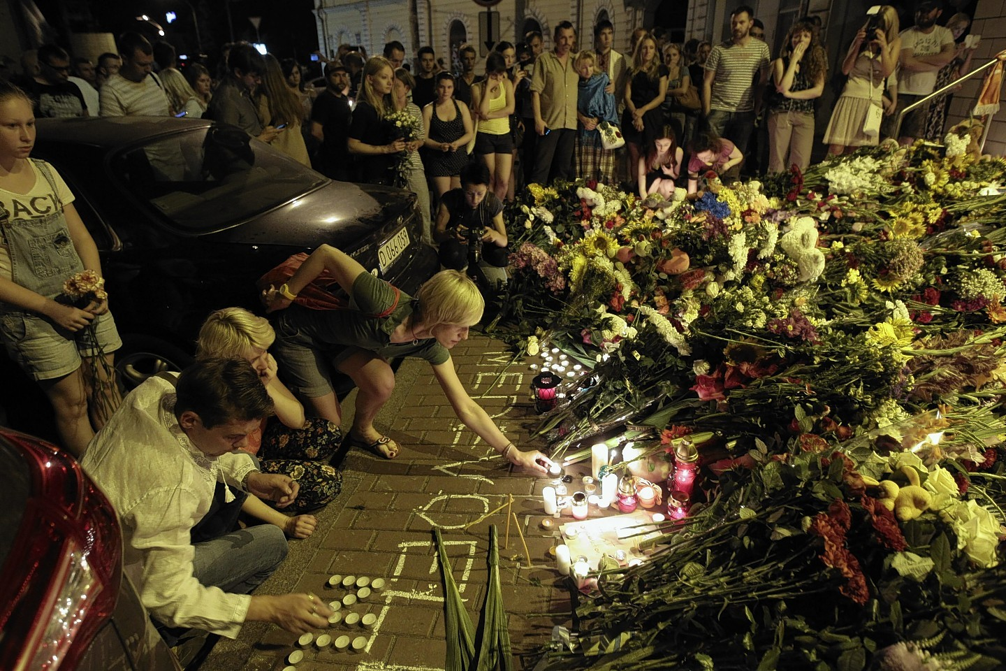 Tributes to the victimes of the Malaysian AIrlines plane crash