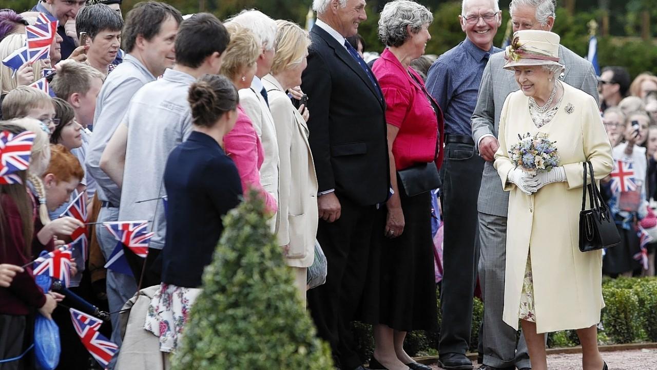Queen Elizabeth II during a visit to Dumfries House in Cumnock
