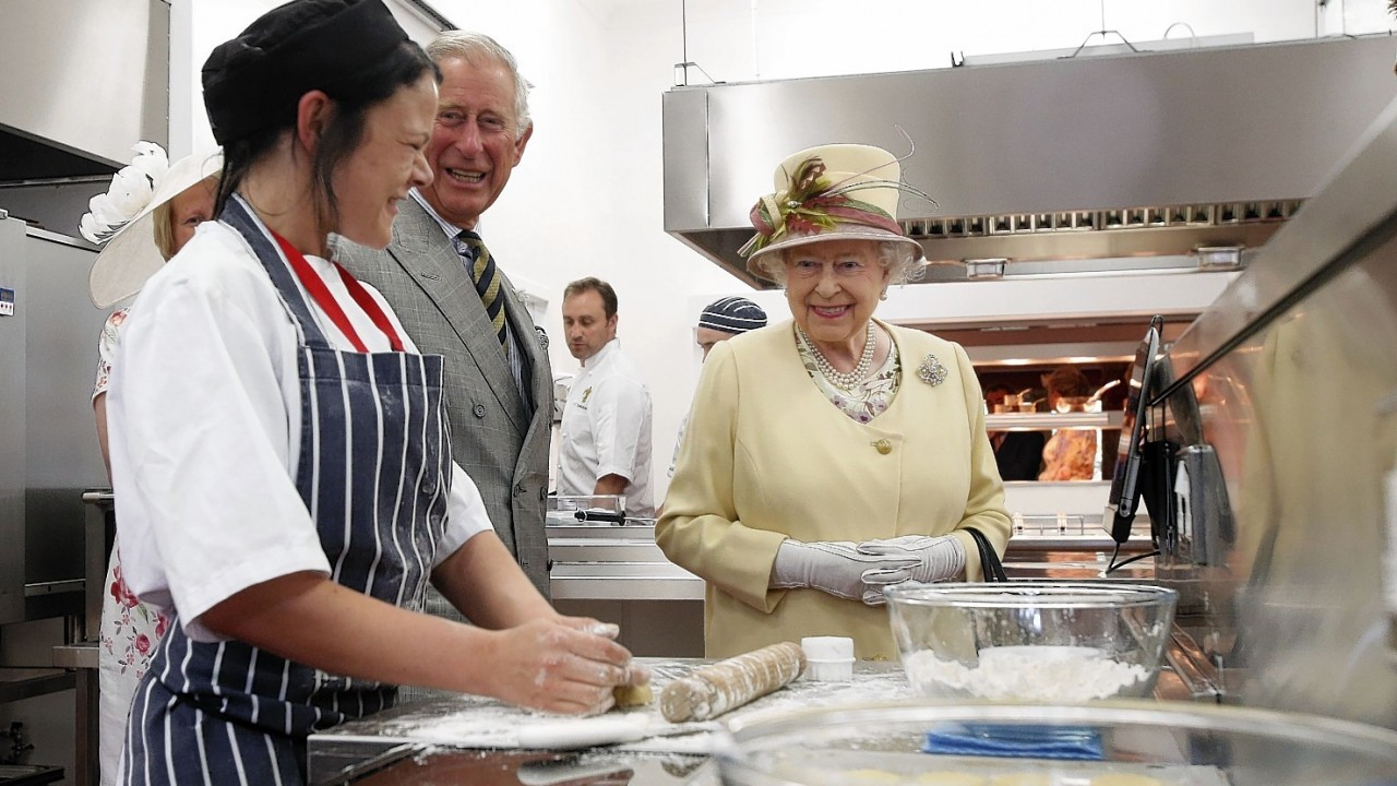 Queen Elizabeth II during a visit to Dumfries House in Cumnock.