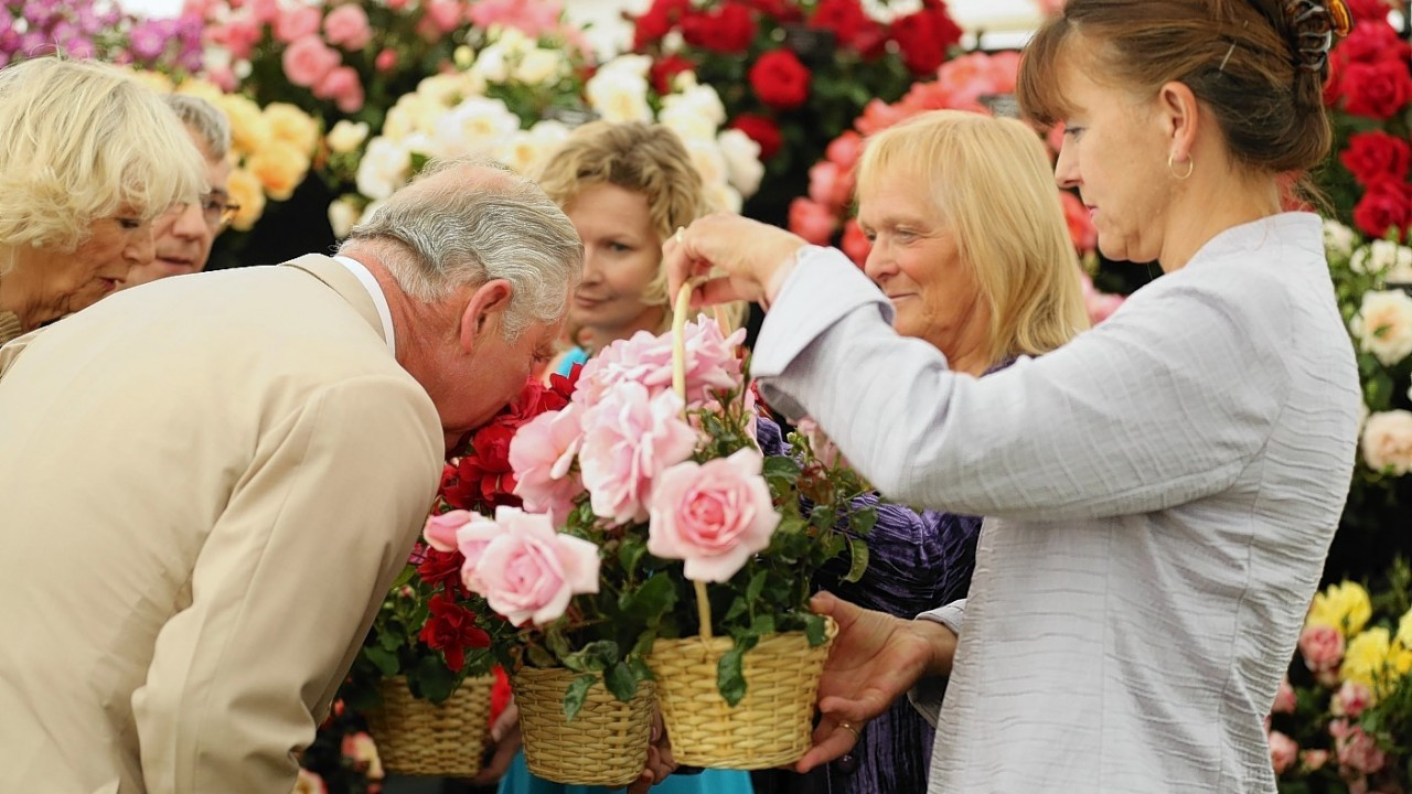 The Prince of Wales and the Duchess of Cornwall visit the Sandringham flower show held on the Royal Estate in Norfolk