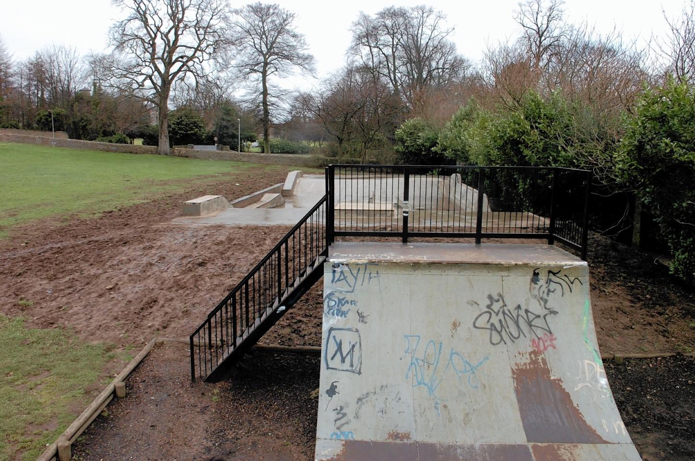 The original Westburn skate ramp