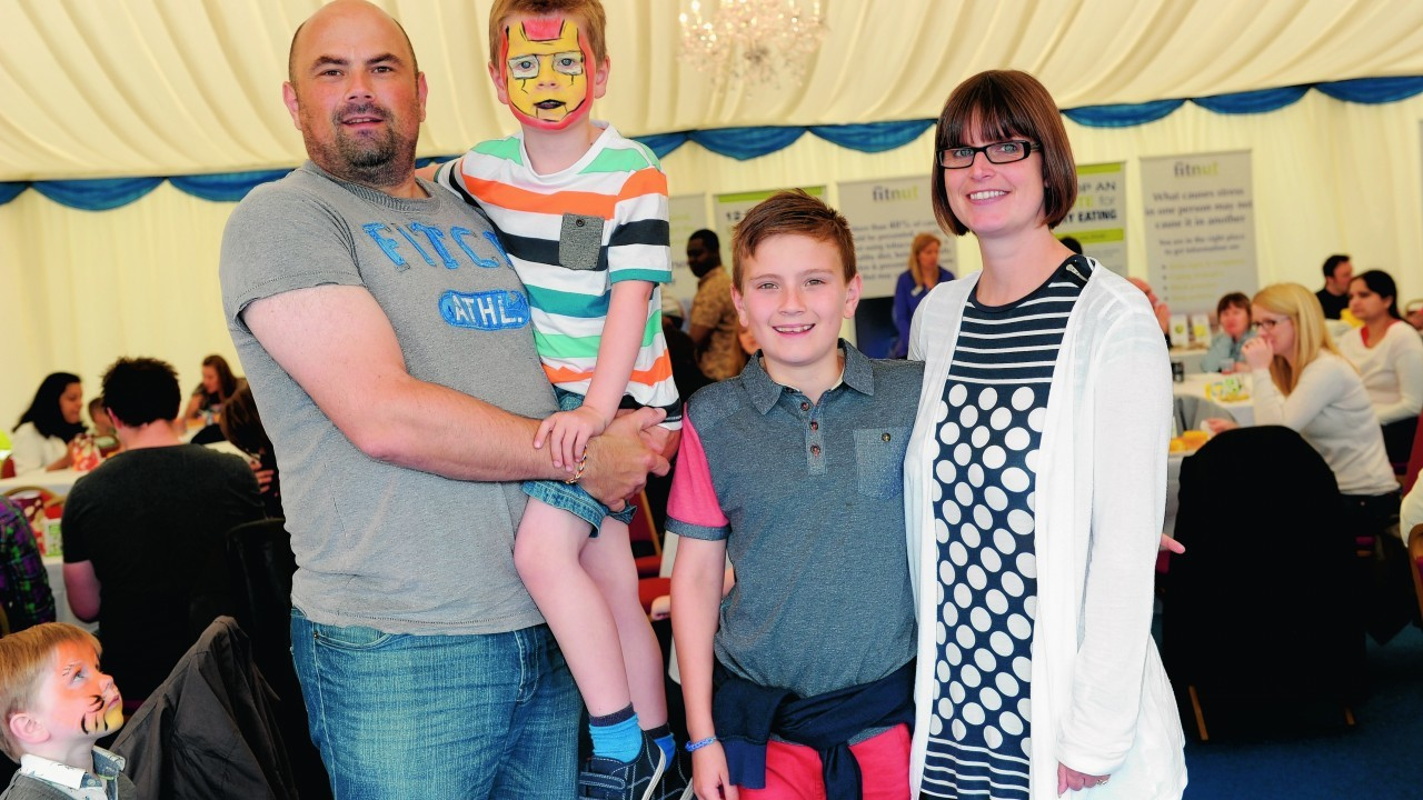 Steven and Nicola Burns with (L-R) Finlay, 5, Lewis, 10.