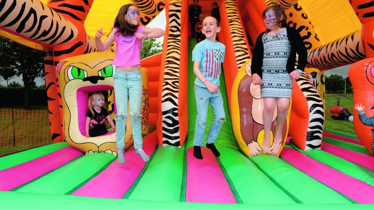 Cora Sebold, 10, Calvin Sebold, 8, and Kaitlynne McIntosh, 7.