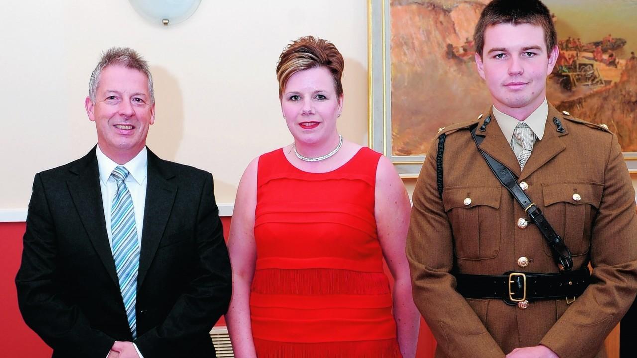 George McLean, Donna McLean and 2nd Lt Craig Aitken.