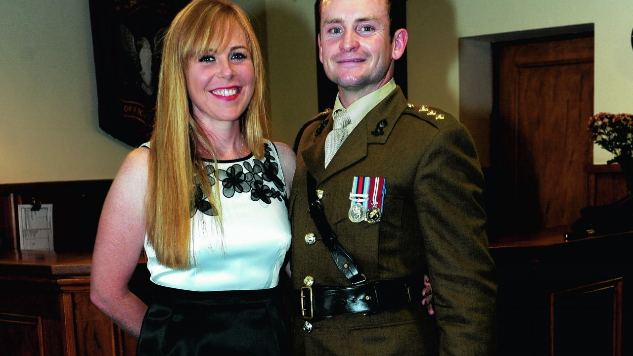 Capt Austin Caulfield and Anna Thomson.