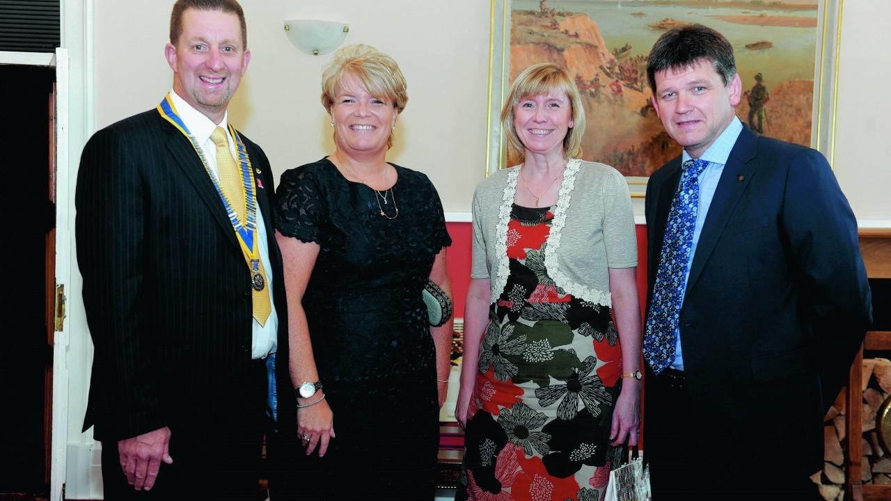 Andy Wardley, Helen Wardley, Julie Fraser, and Lawrence Fraser.