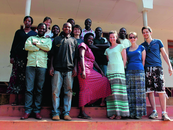 The Tumaini team of social workers and helpers