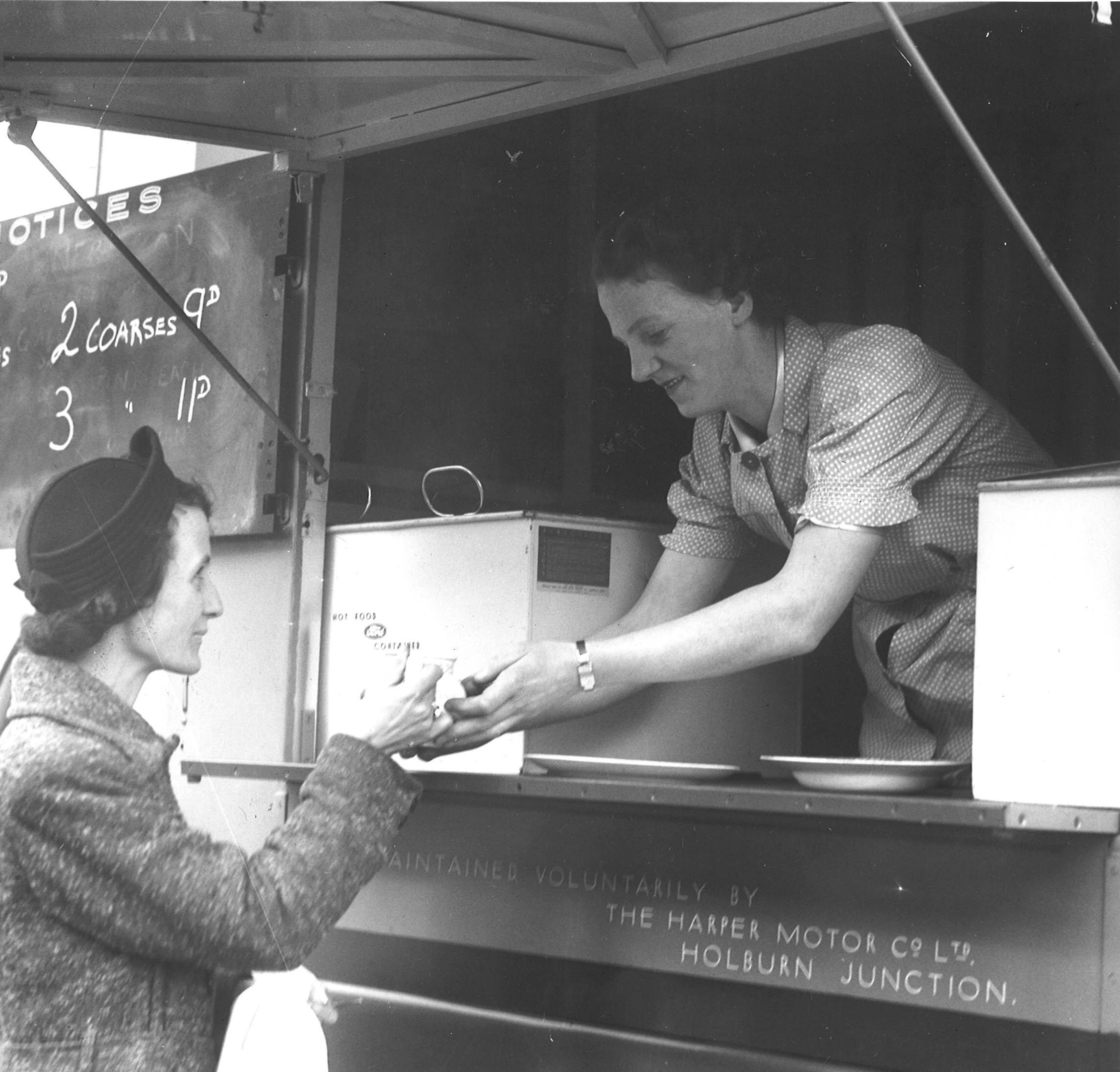 A restaurant van in Ruhrieson, March 1942