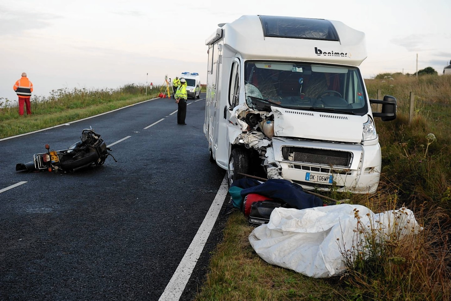 The scene of the accident on the A9