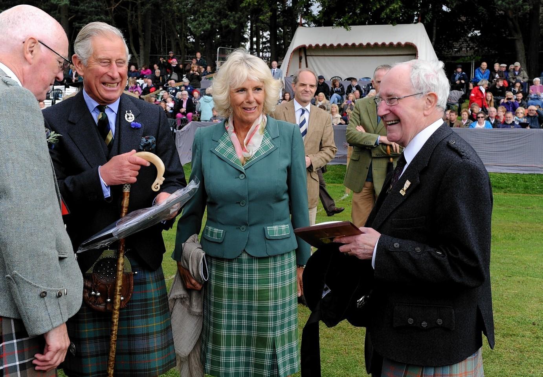 The Royals at Ballater Highland Games