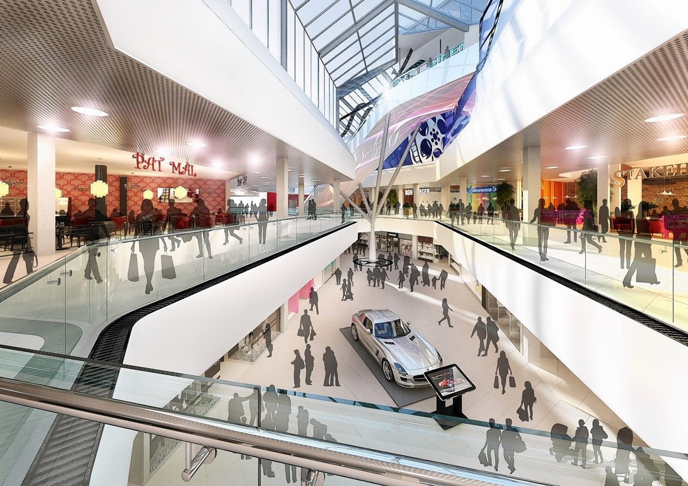 Artist impressions of the expansion plans