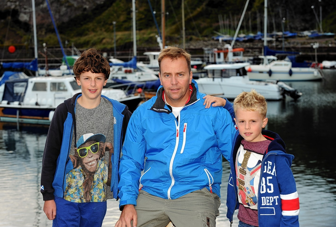 Andrew Buchanan with sons Rory and Matthew