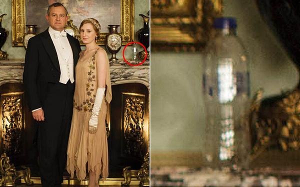 The misplaced bottle in Downton Abbey photoshoot