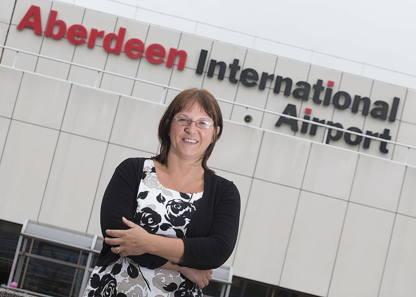 Aberdeen International Airport managing director Carol Benzie