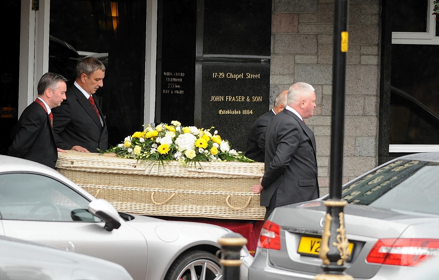 Charlotte Hornby's funeral