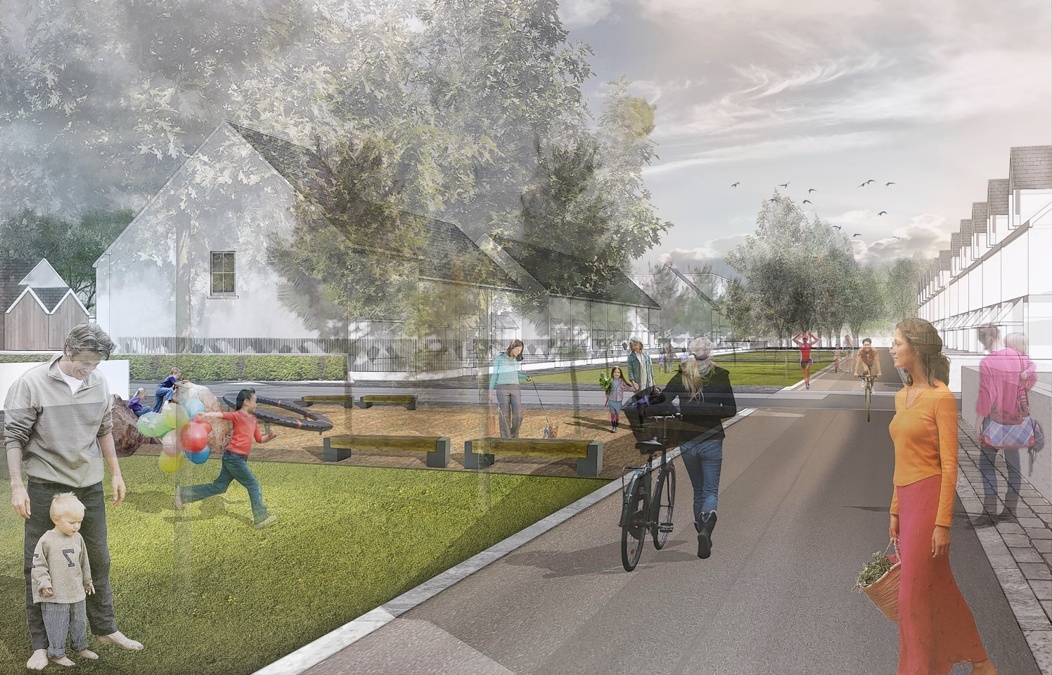 Artists' impressions of the Countesswells development