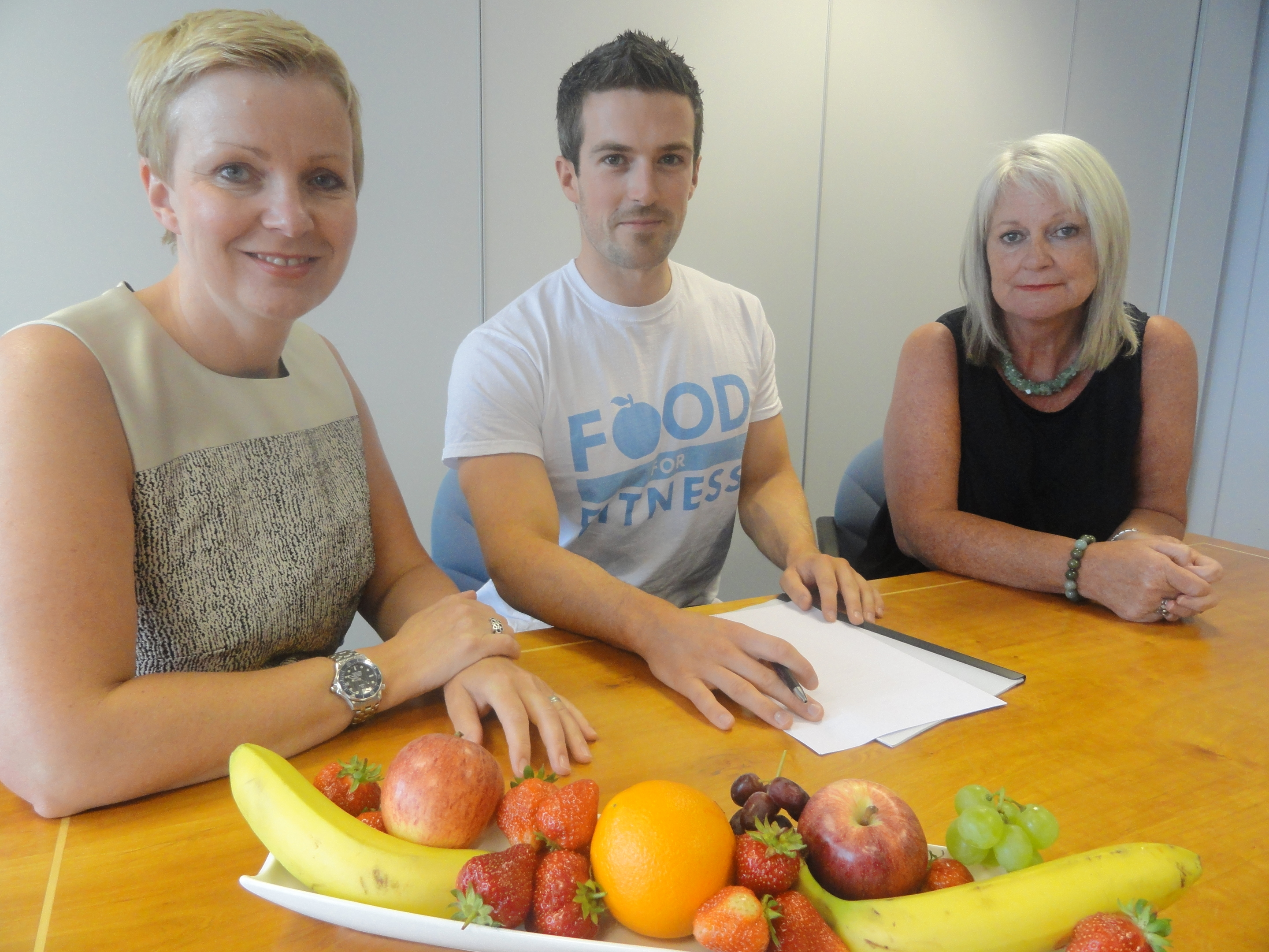 Jennifer Young, chairman of Ledingham Chalmers, Scott Baptie, director of Food for Fitness and Wendy Anderson, HR manager at Ledingham Chalmers