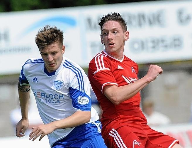 Dons striker Declan McManus has impressed in his Morton loan spell
