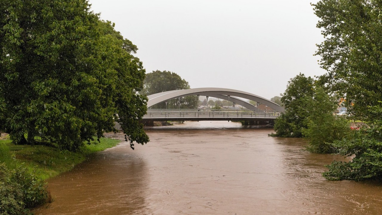 Flooding caused major problems across Moray. Pic credit: Jasper Image
