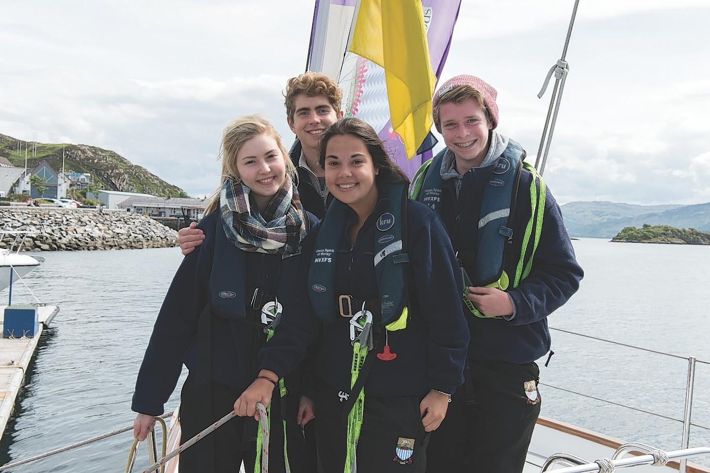 Pupils on their Gordonstoun voyage