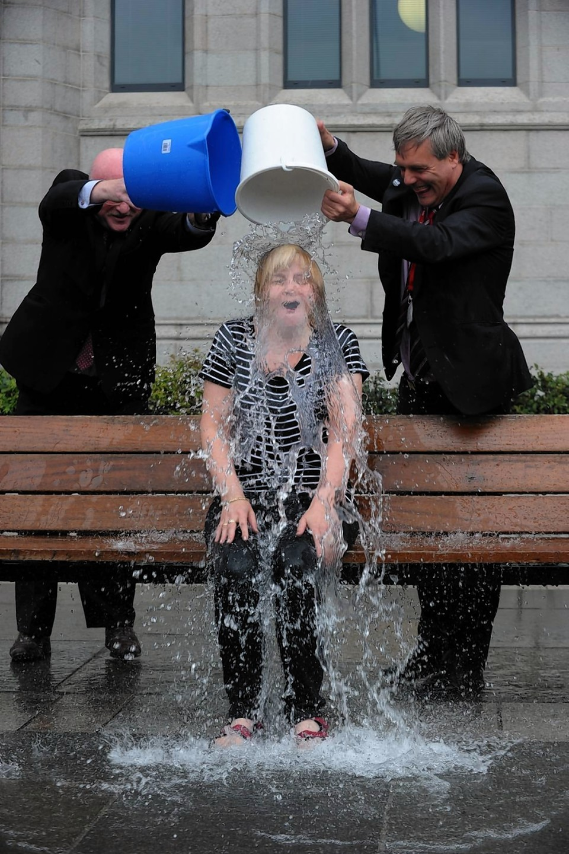Jenny Laing takes the ice bucket challenge