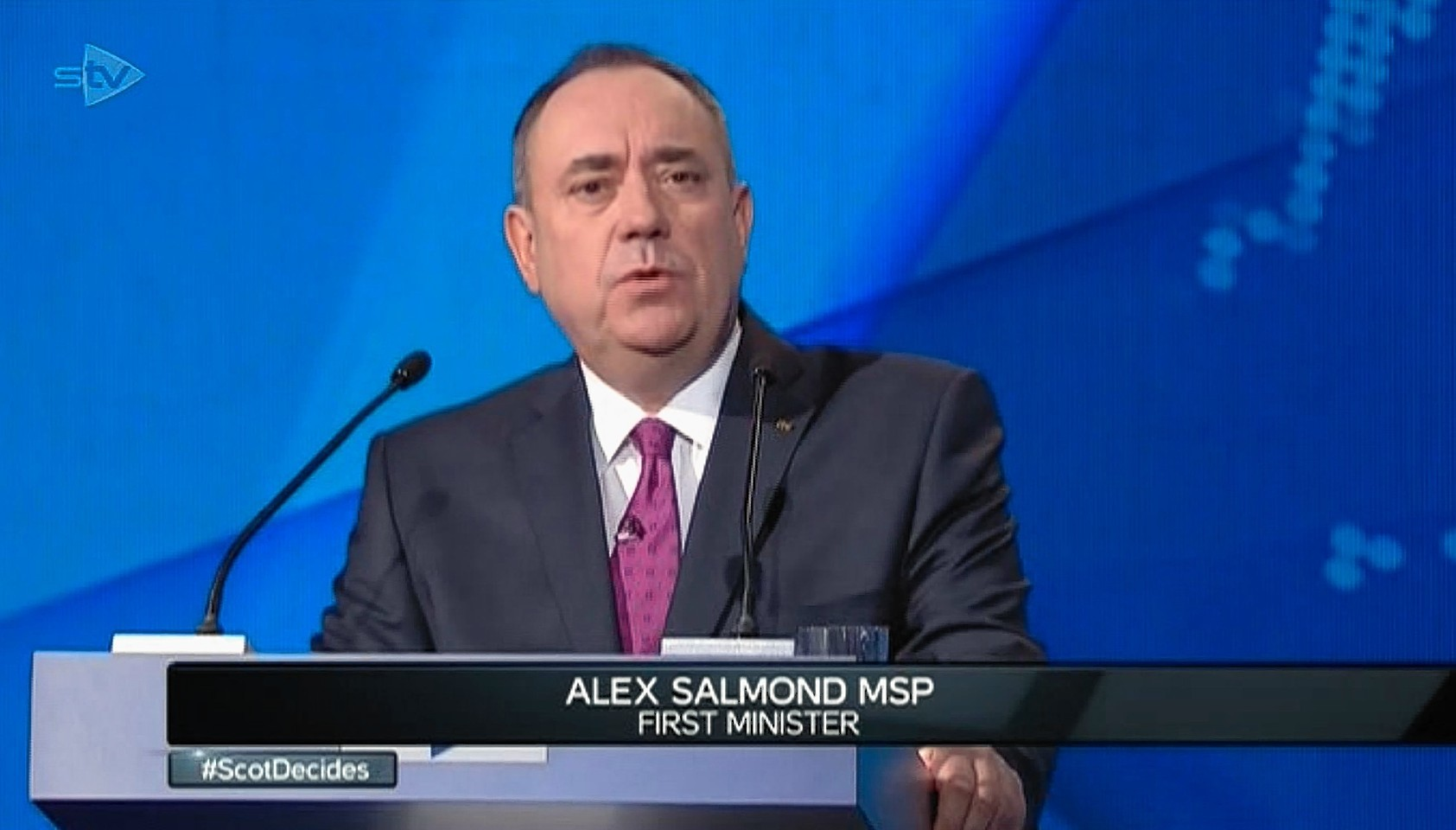 Alex Salmond at the debate
