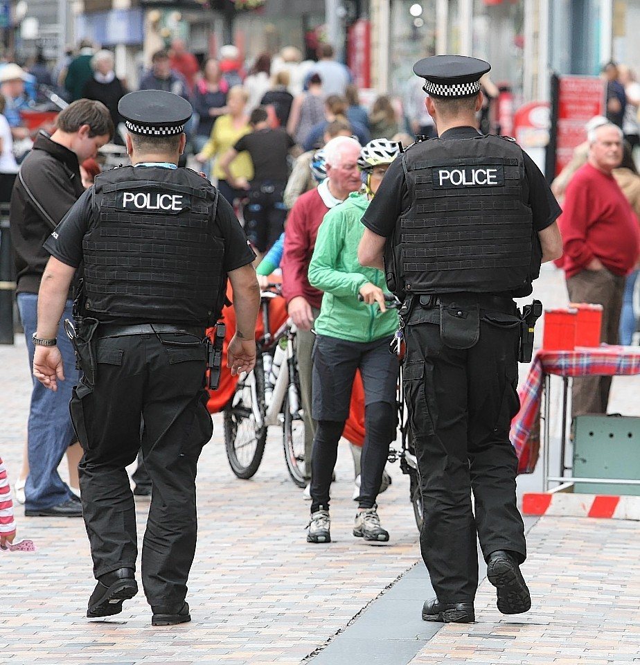Armed officers on the beat