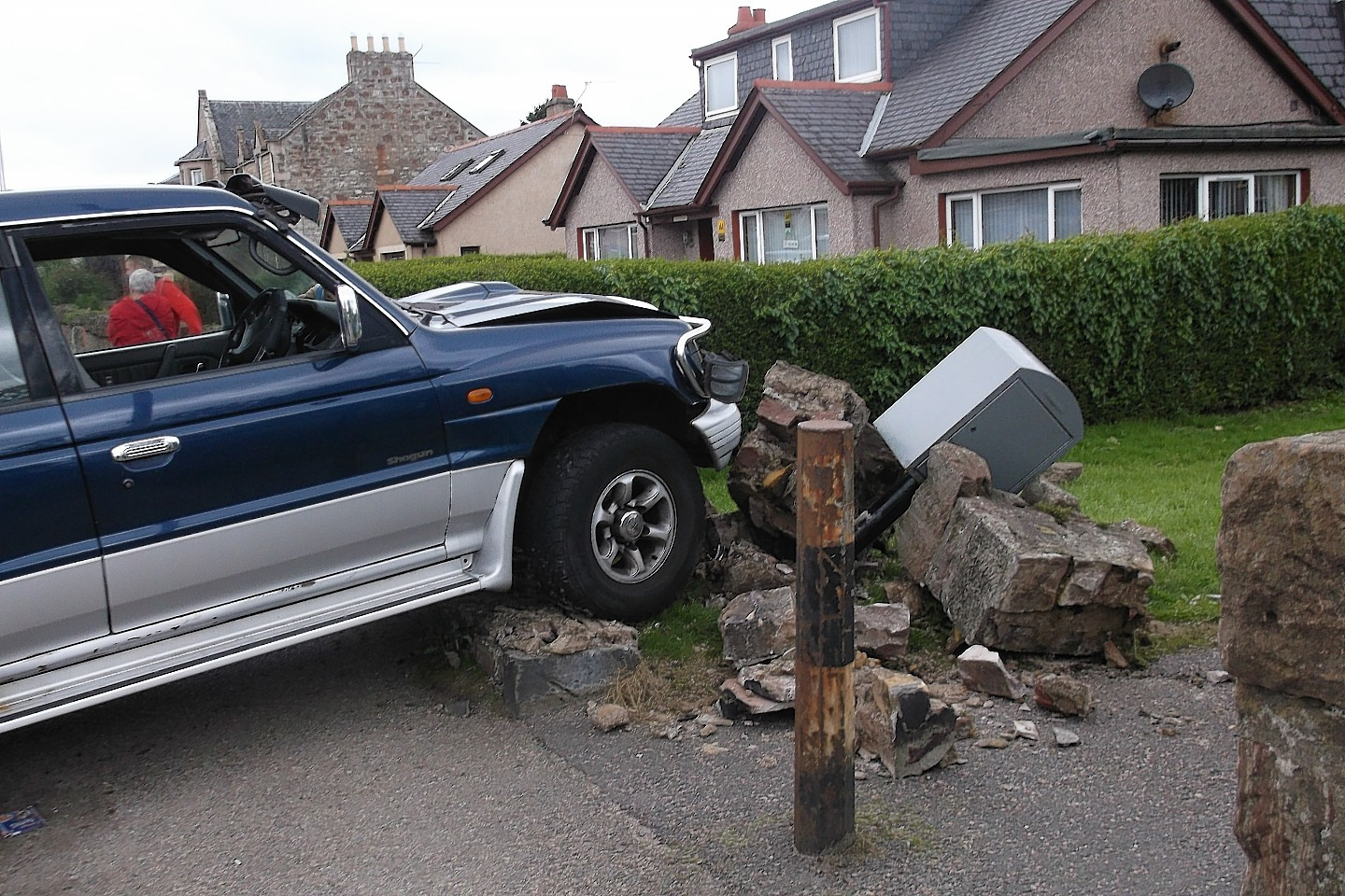 The car crashed into a wall in Inverness