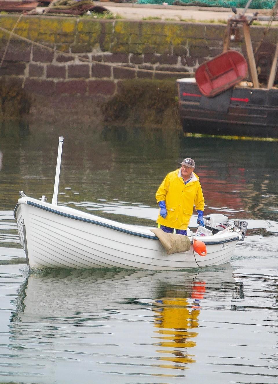 Jim Reid in his new boat