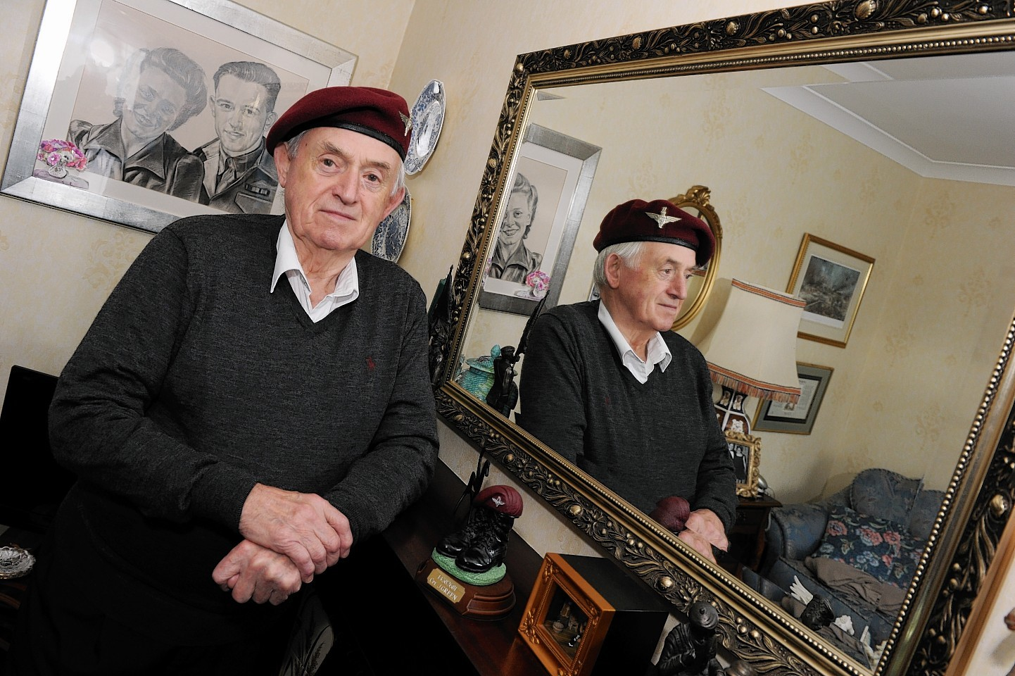 World War II veteran, Jim Green, at his home in Bridge of Don. Credit: Colin Rennie.