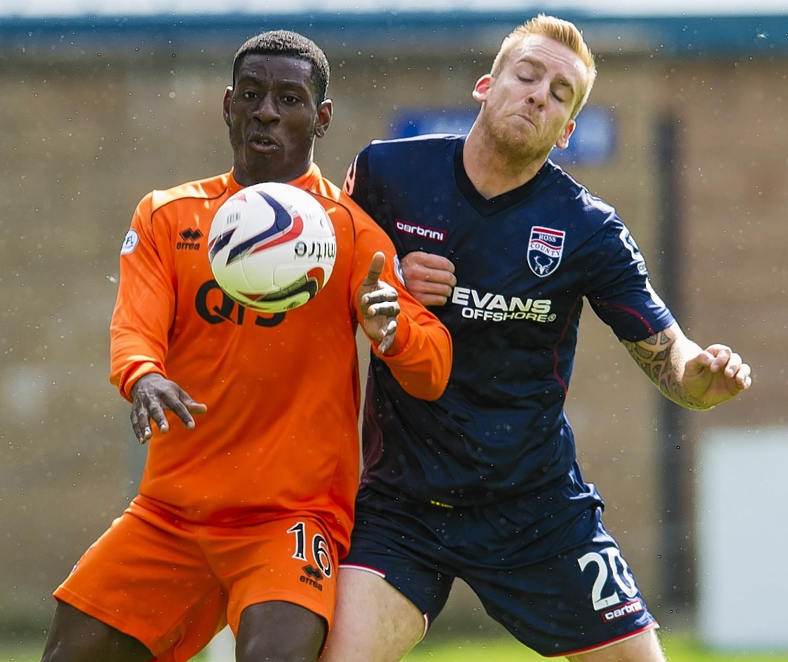 Jordi Balk in action for the Staggies