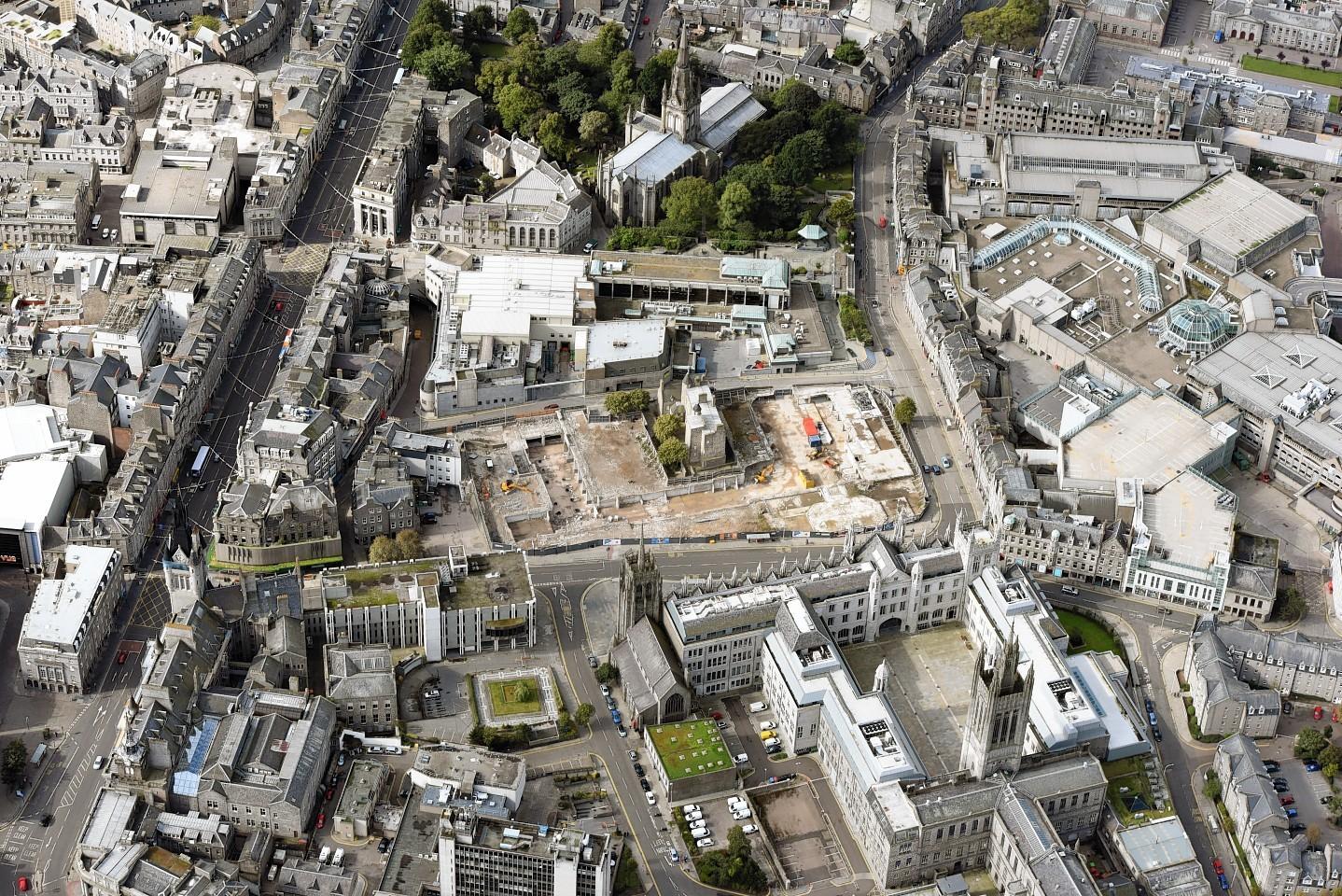 Marischal Square aerial view
