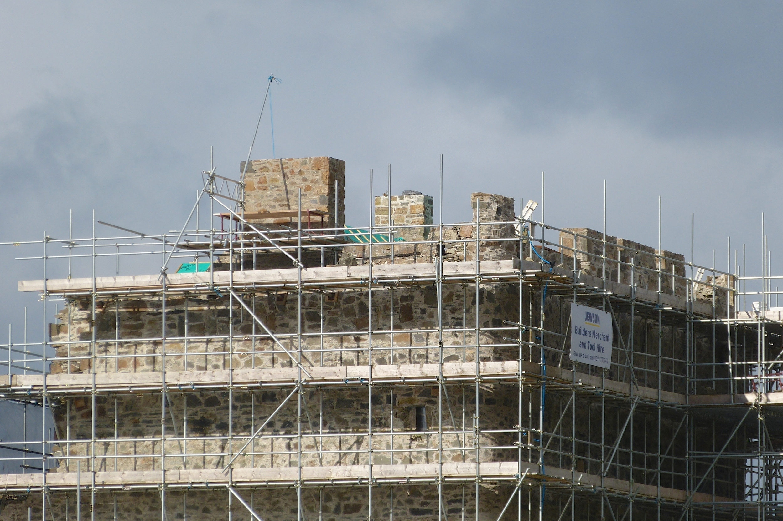 Work being carried out on Mingary Castle