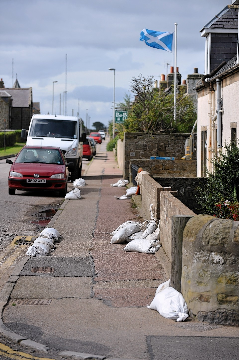 The scenes after flooding in Moray